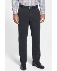 Cutter & Buck - 'curtis' Flat Front Five-pocket Cotton Twill Pants - Lyst