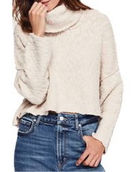 Free People - Big Easy Cowl Neck Crop Sweater - Lyst