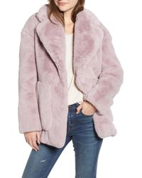 Madewell - Faux Fur Coat - Lyst