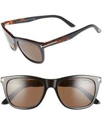 644f794c41ac Tom Ford Rectangular Sunglasses Tf237 Snowdon 05j Black havana honey ...