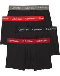 Calvin Klein - 4-pack Cotton Trunks, Red - Lyst