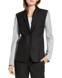 French Connection - Colorblock Blazer - Lyst