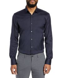 BOSS - Jenno Slim Fit Stretch Solid Dress Shirt - Lyst