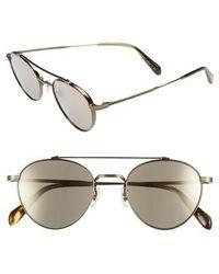 76cfecd28aa Lyst - Balenciaga Square Straight Brow Lizardembossed Sunglasses ...