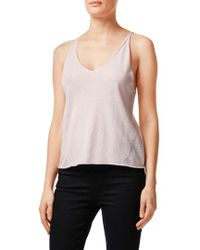 J Brand - Lucy Silk & Cashmere Sweater Knit Camisole - Lyst
