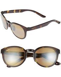 f40a818c1b10c Maui Jim - Keanae 49mm Polarized Sunglasses - Olive Tortoise  Bronze - Lyst