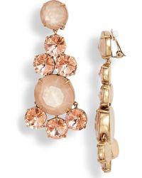 Tory Burch - Circles Chandelier Clip Earrings - Lyst