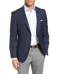 BOSS - Jewels Classic Fit Plaid Wool Sport Coat - Lyst