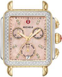 Michele - Deco Diamond Diamond Dial Watch Head - Lyst