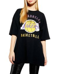 2a0825bab48 Lyst - TOPSHOP Lakers Crop T-shirt By in Yellow