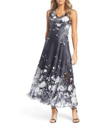 Komarov - Lace-up Back Maxi Dress With Wrap - Lyst