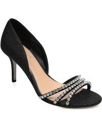 4b3ae14a57a Lyst - Stuart Weitzman Jean Metallic Plaid Cork-Wedge Sandals
