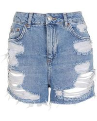 TOPSHOP | Ripped Mom Shorts | Lyst