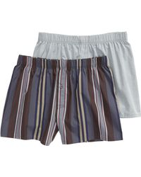 Hanro - 2-pack Fancy Woven Boxers, Green - Lyst