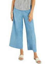 Madewell - Huston Chambray Pull-on Crop Pants - Lyst