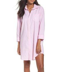 Lauren by Ralph Lauren - Cotton Poplin Sleep Shirt - Lyst