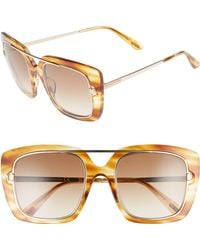 15d467d945d6 Tom Ford - Marissa 52mm Sunglasses - Light Brown  Gradient Brown - Lyst