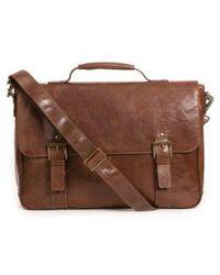 Boconi - 'becker' Leather Messenger Bag - Lyst