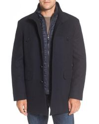 Cole Haan - Wool Blend 3-in-1 Topcoat - Lyst
