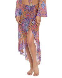 Luli Fama - Ruffle Skirt Cover-up - Lyst