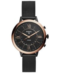 Fossil - Jacqueline Mesh Strap Hybrid Smart Watch - Lyst