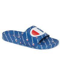 9eec3ddc48a Lyst - Champion Logo Pool Slide Sandals in Black for Men