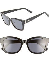ef150891e0d Longchamp - Heritage 53mm Polarized Square Sunglasses - Lyst