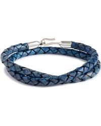 Caputo & Co. - Braided Leather Wrap Bracelet - Lyst