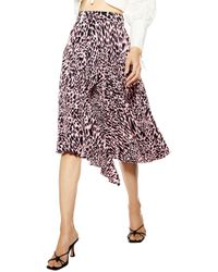 TOPSHOP Taylor Pleat Midi Skirt