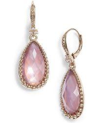 Marchesa - Pear Stone Drop Earrings - Lyst