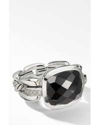 David Yurman - Wellesley Link Statement Ring With Diamonds - Lyst