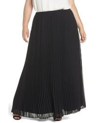 Alex Evenings - Long Pleated Chiffon Skirt - Lyst