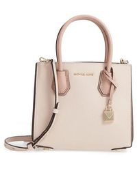 MICHAEL Michael Kors - Medium Mercer Pebbled Leather Tote - Lyst