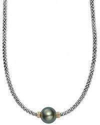 Lagos - Luna Pearl Collar Necklace - Lyst