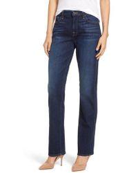 Jen7 - Stretch Slim Straight Leg Jeans - Lyst