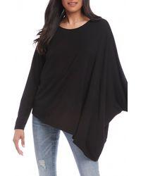 Karen Kane Asymmetrical Jersey Top - Black