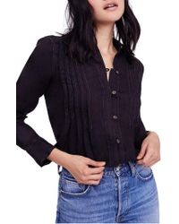 Free People - Breezy Mornings Linen Shirt - Lyst