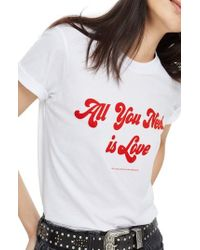 TOPSHOP | By And Finally All You Need Is Love Tee | Lyst
