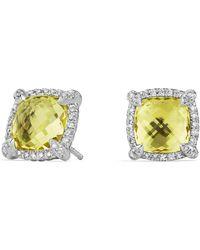 David Yurman - 'chatelaine' Pave Bezel Stud Earrings With Diamonds - Lyst
