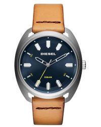 DIESEL - Diesel Fastbak Leather Strap Watch - Lyst