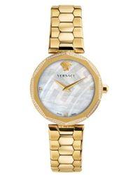 Versace - Idyia Diamond Bracelet Watch - Lyst