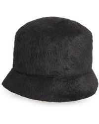 f0020535d74bc Clyde Lambskin Leather Beret - in Black - Lyst