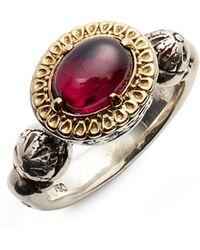 Konstantino - Hermoine Two-tone Semiprecious Stone Ring - Lyst