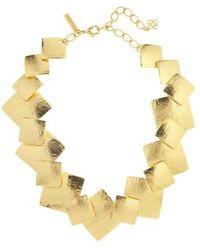 Oscar de la Renta - Geo Collage Collar Necklace - Lyst