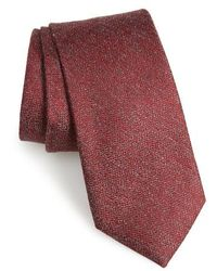 Calibrate - Fayette Solid Silk Blend Tie - Lyst