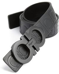 Ferragamo - Calfskin Leather Belt - Lyst