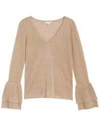 Ella Moss - Ruffle Bell Sleeve Sweater - Lyst