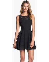 BB Dakota   'renley' Lace Fit & Flare Dress   Lyst