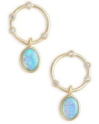Melinda Maria - Opal & Crystal Link Circle Drop Earrings - Lyst