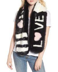 Heurueh - Love Faux Fur Stole - Lyst